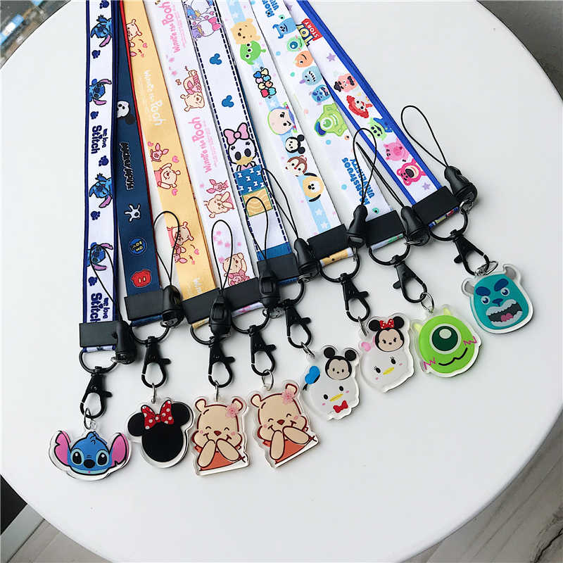 Cell Mobile Phone Camera Neck Lanyard Detachable Multifunction Strap ID Card Key Ring Holder Mobile Phone Cartoon Lanyard strap