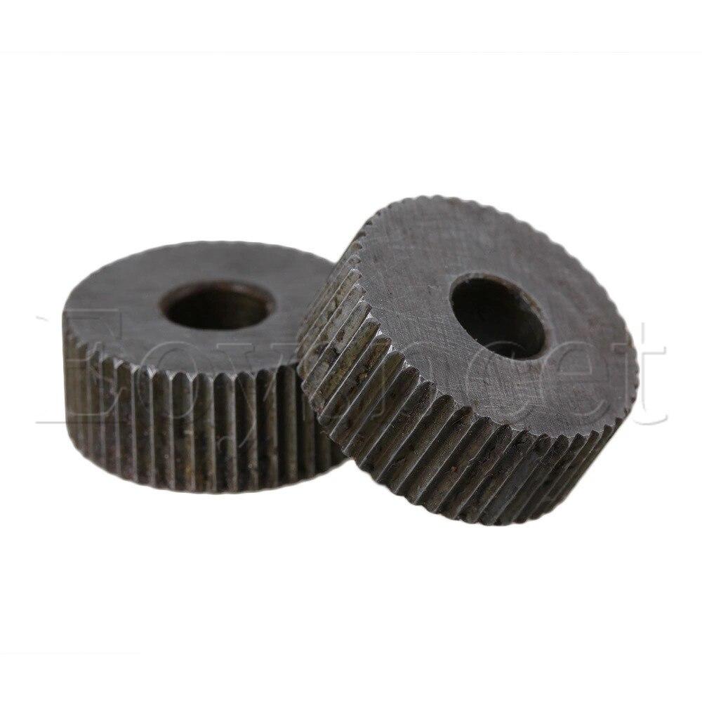 2x Anti Slip Single Straight Coarse 1.2mm Linear Knurling Wheel For Metal Lathe