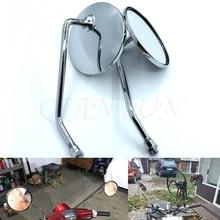 Universal 8mm 10mm รถจักรยานยนต์กระจกโครเมี่ยมรอบกระจกรถจักรยานยนต์ยาวสำหรับ KTM DUKE200 DUKE390 DUKE690 DUKE990