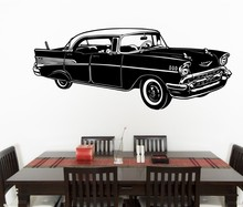 Fashion Stylish Car Silhouette Wall Stickers Home Special Art Wall Decals Cool Whole Car Patterned Vinyl Creative Mural W-945 rock wall patterned door art stickers