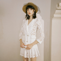 The new summer 2019 white bud silk suit