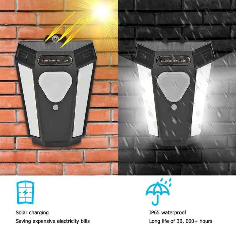 16LED Warna-warni Solar Lampu Dinding Outdoor Tahan Air Taman Halaman Lampu Dinding