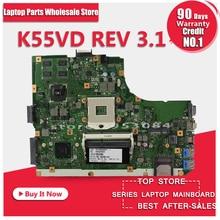 Original K55V K55VD Motherboard für Asus K55VD r500vd REV3.0/3,1 Mainboard GT610 2G PGA989 100% Geprüft Kostenloser Versand