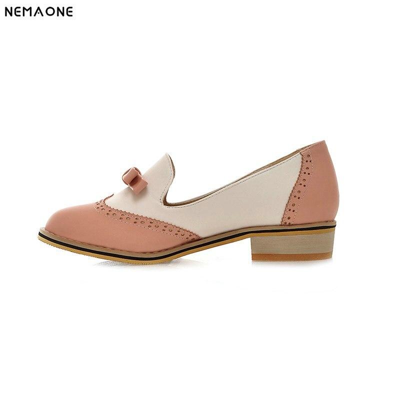 NEW sweet low Heel shoes rouned toe bowties Women shoes black blue pink purple brauberg purple pink 224156