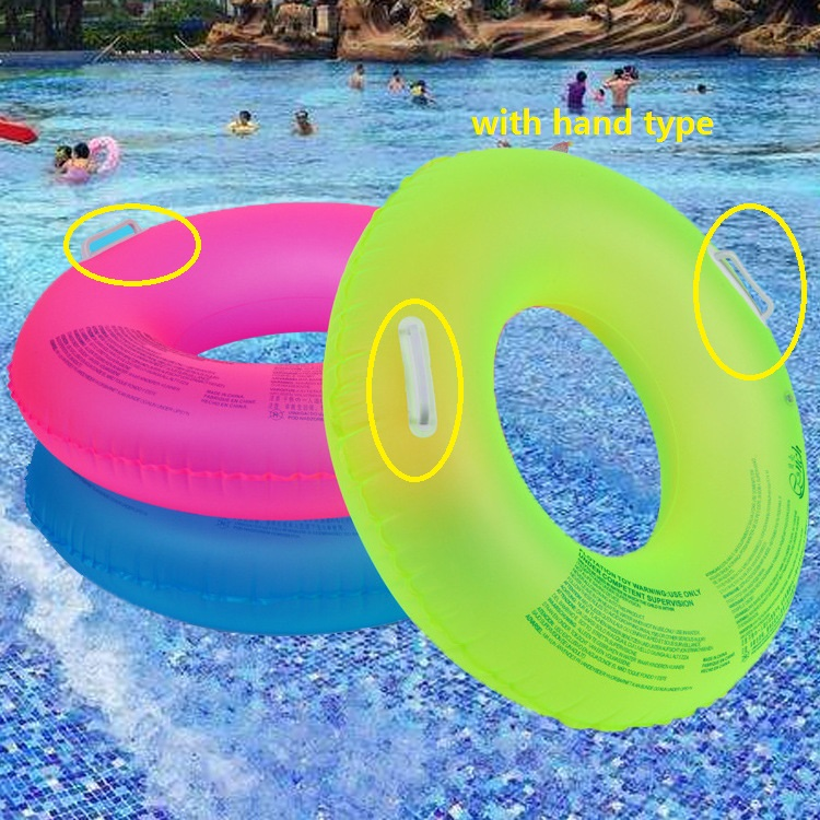 Summer New Fluorescent Inflatable Ring Swimming Circle Pool Floats Swimming Wheels For Adult Kids Swimming Water Sports
