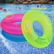 Summer New Fluorescent Inflatable Ring Swimming Circle Pool Floats swimming wheels For Adult kids Swimming Water Sports(China)