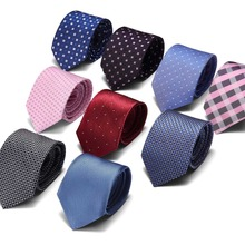 2019 new classic plaid mens luxury silk men ties checked formal business wedding british cravatte seta 7.5cm necktie