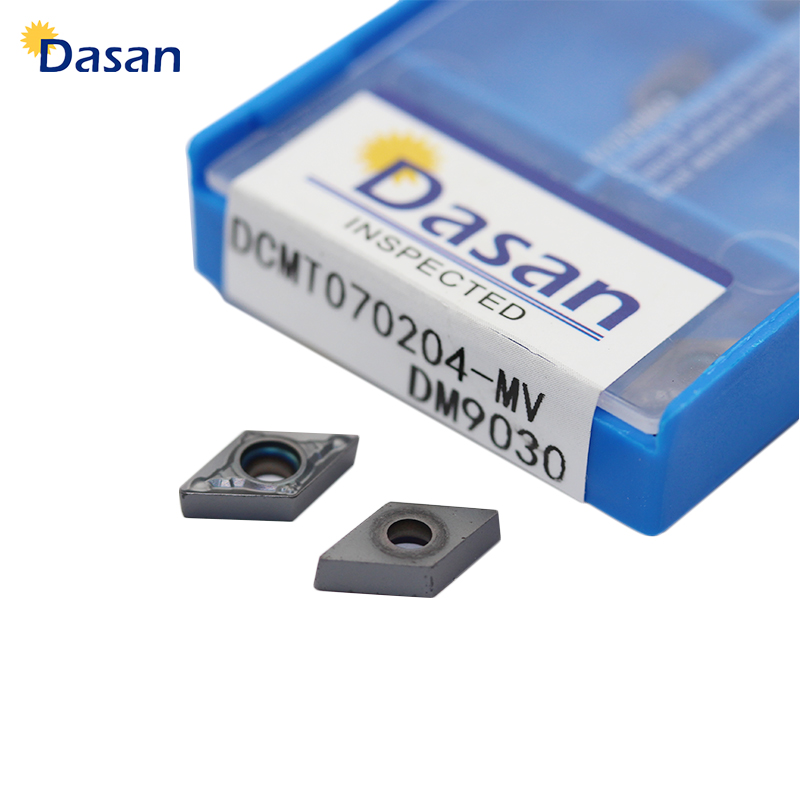 Купить с кэшбэком 10pcs Insert DCMT070204 MV DM9030 Internal Turning Tool Carbide Inserts Turning CNC Lathe Knife Blades Cutter Tool