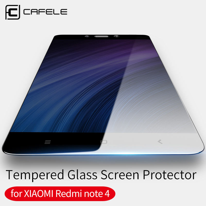 CAFELE For xiaomi redmi note 4 Screen Protector 9H Ultra Thin Protective Film Tempered Glass For redmi note 4X Seamless covering