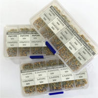 1500pcs 30Valuesx50 10nF 10uF Multilayer Monolithic Ceramic Capacitor Assorted Kit With 3 Storage Box