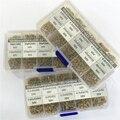 1500 pcs 30Valuesx50 10pF ~ 10 uF (100 ~ 106) a più strati/Monolithic Ceramic Capacitor kit Assortito con 3 scatola di immagazzinaggio