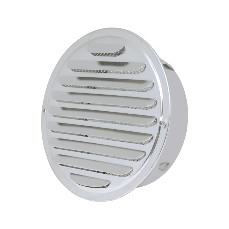 Round Stainless Steel Wall Cover Air Vents Bull Nosed External Extractor Outlet Vents Windshield Kitchen Outlet Flat Head Hood