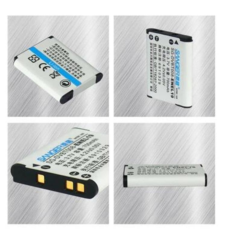 EN-EL19 lithium batteries pack ENEL19 Digital Camera Battery  ENEL19 For Nikon S2500 S2600 S2700 S3100 S3200 S3300 S3500
