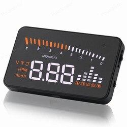 Wielu kolorów HD 3 cal ekran X5 uniwersalny Gps cyfrowy napięcie prędkościomierz ostrzeżenie samochodów wyświetlacz HUD wyświetlacz head up w Wyświetlacz projekcyjny od Samochody i motocykle na