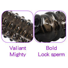 Reusable Condom With Soft Spikes For Penis Enlargement Cock Ring Penis Extender Condoms Intimate Goods For Male Sex Toys
