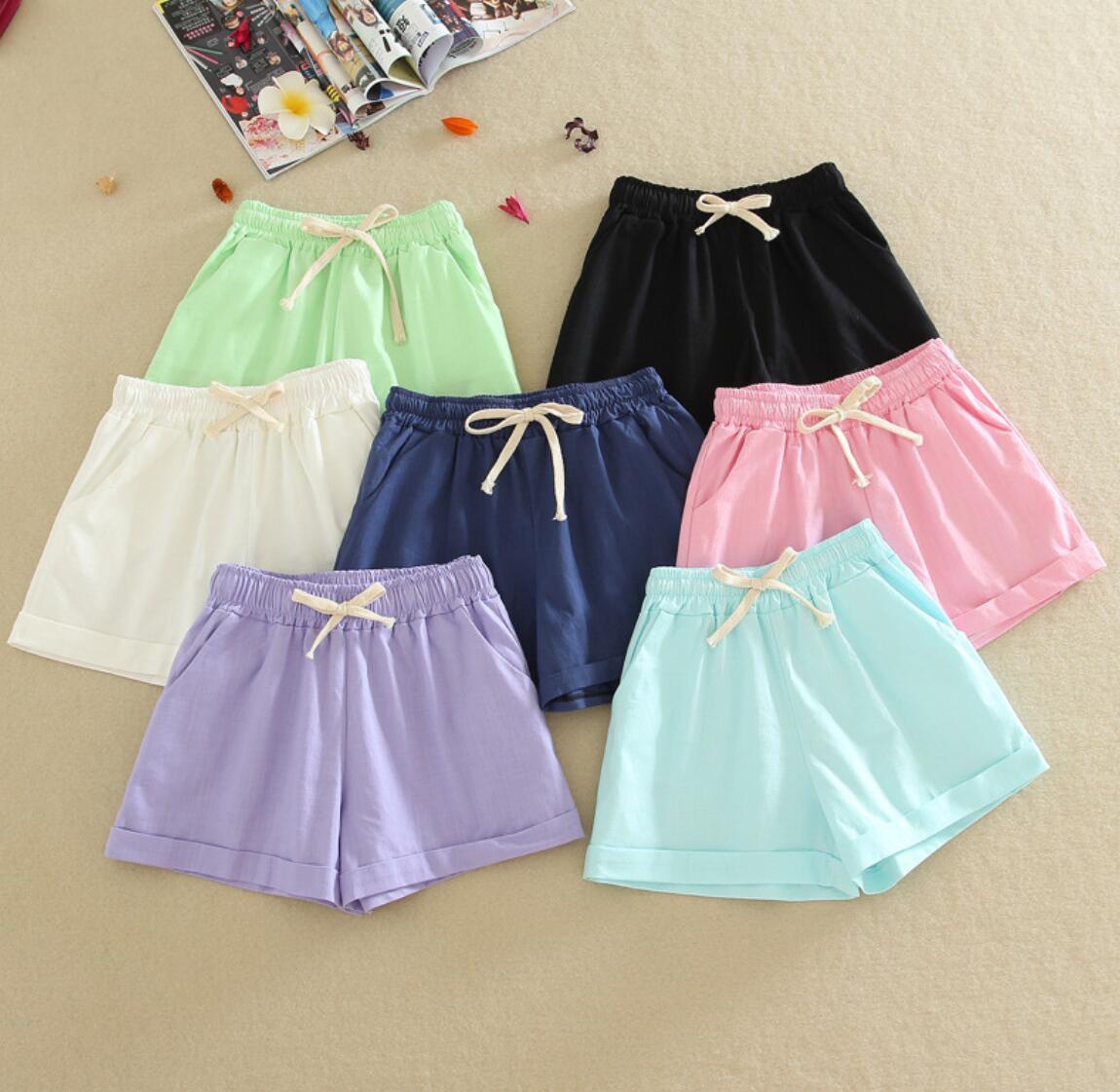NEW 2016   shorts   soft solid color   shorts   9-88 female white thin KJJ-02-KJJ-03