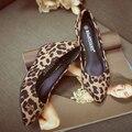 Леопарда клин сексуальные туфли на высоком каблуке женские обуви sys-732