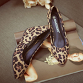 Leopard Wedge Sexy High-Heeled Shoes Women's Shoe sys-732