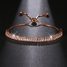 New Fashion Style Cubic Zirconia Rose Gold Color Bracelet Jewelry Austrian Crystal Big Discount For Party Pagement Gifts B-067 цена 2017