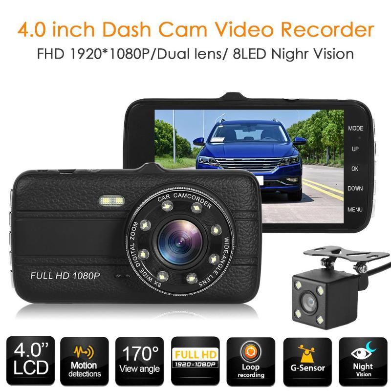 Dashboard Cam Car Dvr Night-Vision High-Definition 4inch SE001C 170 Low-Angle