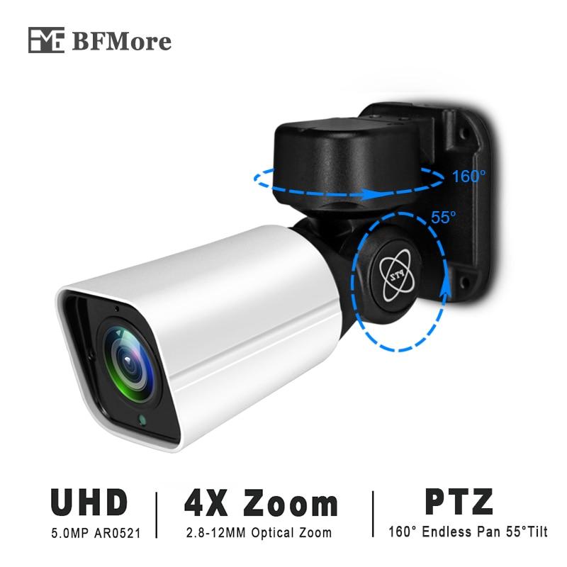 BFMore 5 0MP 4 0MP Mini POE PTZ IP Camera H 265 Outdoor 2 8 12mm