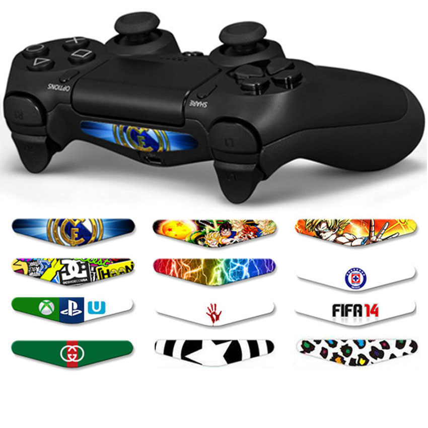 Aoxo Kustom Keren Colorskin Decal Light Bar Stiker untuk Sony PlayStation 4 PS4 Controller LED Stiker 2018