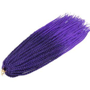 """Image 5 - Luxe pour tressage cheveux synthétiques Ombre violet brun blond 24 """"12 brins/pc 110g Jumbo Crochet boîte tresses"""