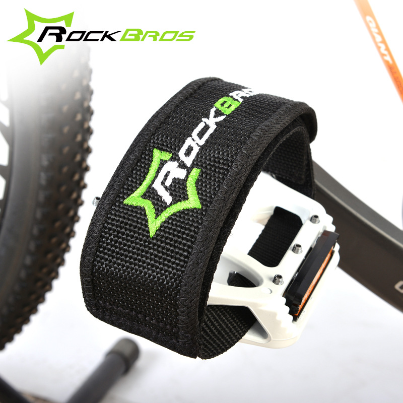 Pair Anti-slip Fixed Bike Bicycle Cycling Pedal Toe Clips Strap Foot Band