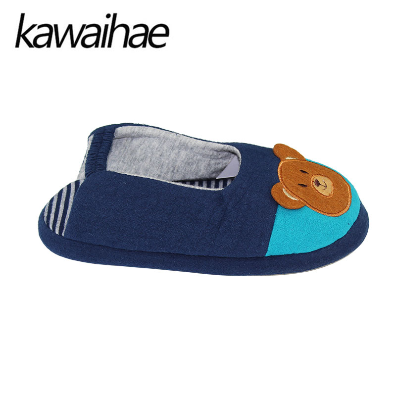 Cute-Bear-Children-Shoes-Girls-Boys-Slipers-Home-Indoor-House-Kids-Flat-Cotton-Shoes-Kawaihae-Brand-2
