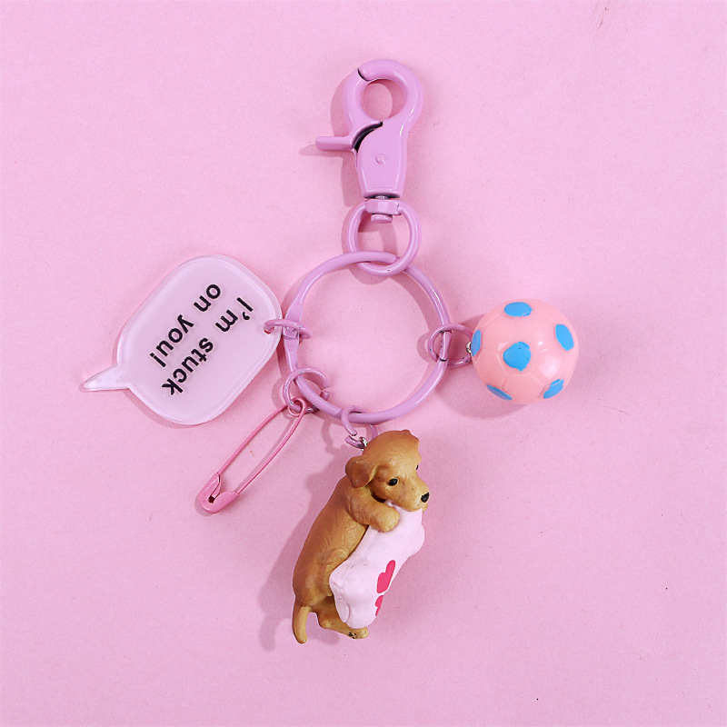 Hot New Dog Dachshund Key chain kid Bag Charm Pendant Keychains Holder Keyring Jewelry For Women Girl Gift Keychain Jewelry in Key Chains from Jewelry Accessories