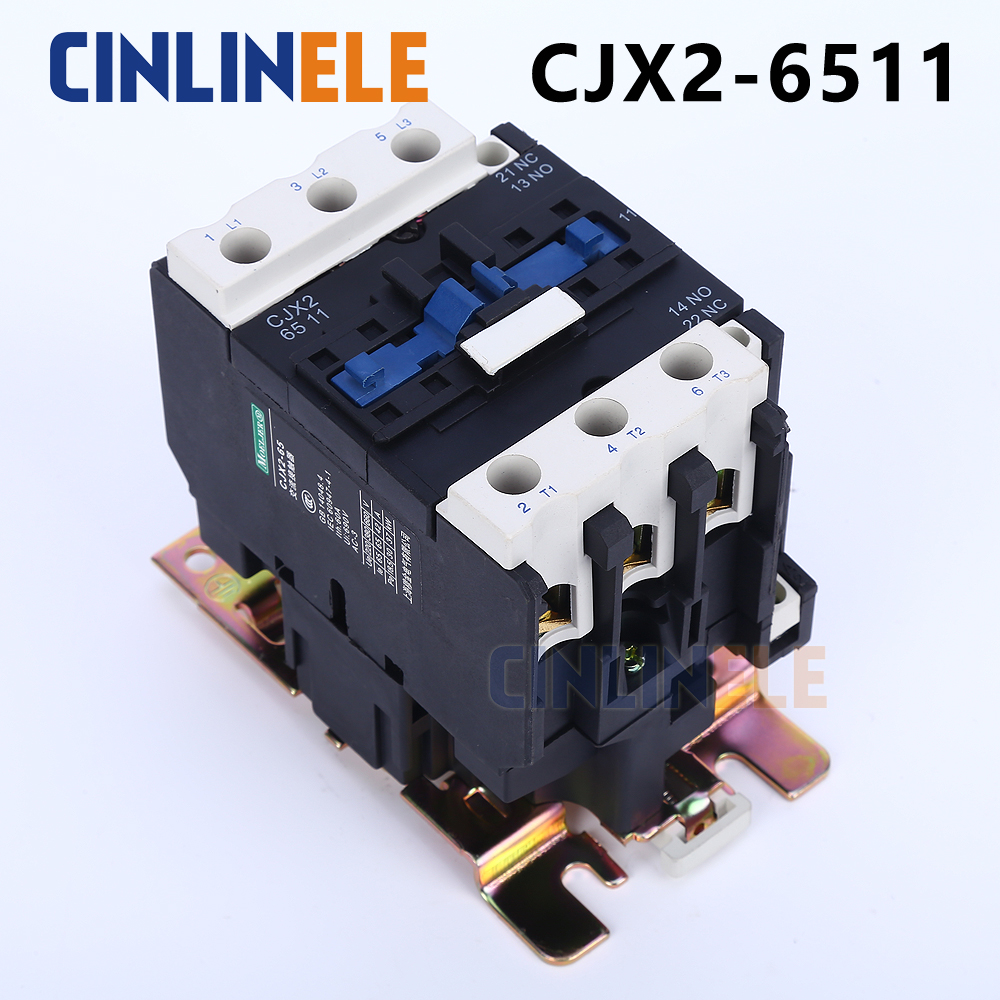 Contactor CJX2-6511 65A switches LC1 AC contactor voltage 380V 220V 110V Use with float switch free shipping high quality motor starter relay cjx2 6511 contactor ac 220v 380v 65a voltage optional lc1 d