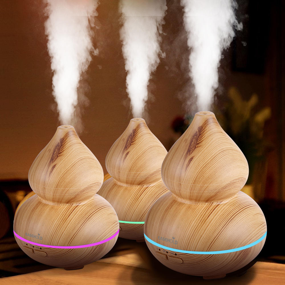 EASEHOLD 150ml Air Humidifier Essential Oil Diffuser Aroma Lamp Aromatherapy Electric Aroma Diffuser Mist Maker for Home-Wood crystal lux бра crystal lux alicante ap2