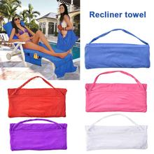 New 73cm Leisure Chair Beach Towel Microfiber Swimming Pool Lounge Chair Cover With Pocket Quick Drying Recliner Beach Towel