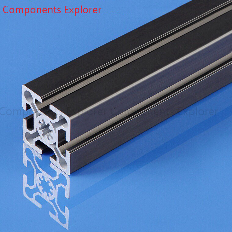 Arbitrary Cutting 1000mm 5050W2 Black  Aluminum Extrusion Profile,Black Color.