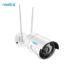 Reolink Surveillance Outdoor Camera WiFi 4MP 2.4G/5G HD IP Cam SD Card Storage Wireless Weatherproof Security Cam RLC-410WS