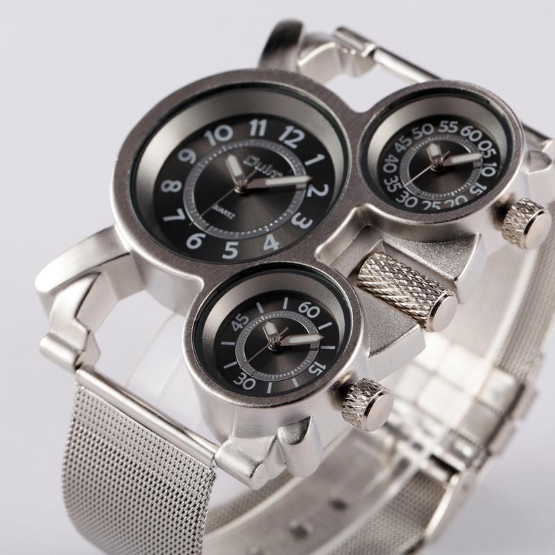 1 pc/lot Hommes Montre OULM 1167 Montre Reloj Hombre Acero Inoxidable Montre Homme de Marque Erkek Saat Relogio Masculino d'origine