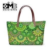 Dispalang Mode Grand Femmes Sac Vert Rayé Imprimer Dames Sacs À Main Fleur Femmes Épaule Sac de Messager de Grande Capacité Sac