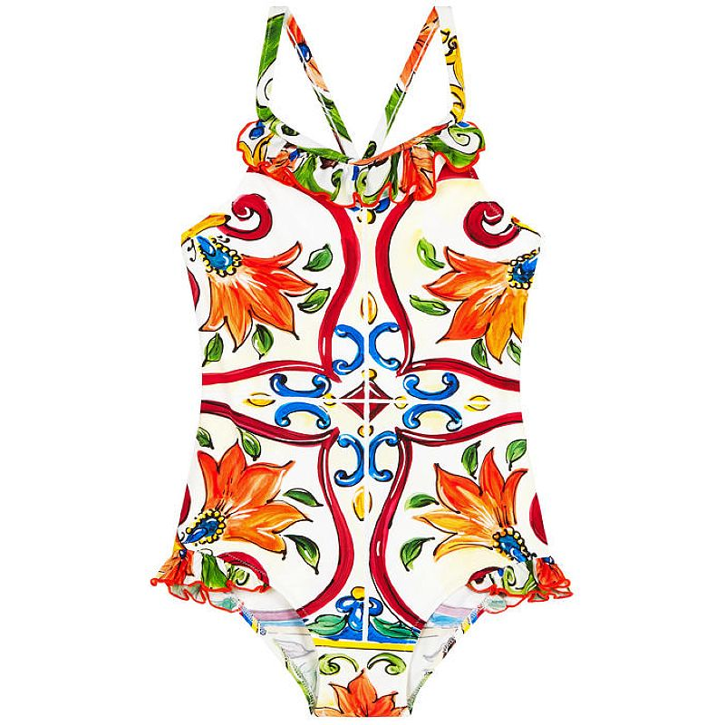 Baby Swimsuit Girls Clothes Floral Kids Swimwear Baby One Piece 2018 Brand Toddler Summer Swimwear Children Clothing 80-140cm