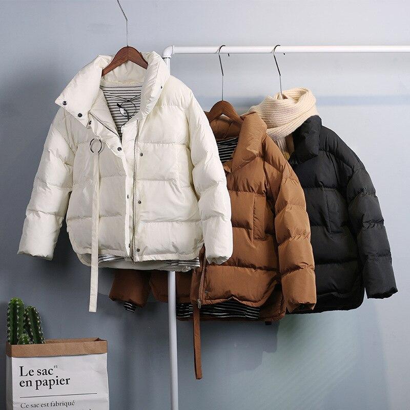 2017 new winter woman thick batwing sleeve down coats dark green long sleeve solid black oversize cotton Jacket coats beige