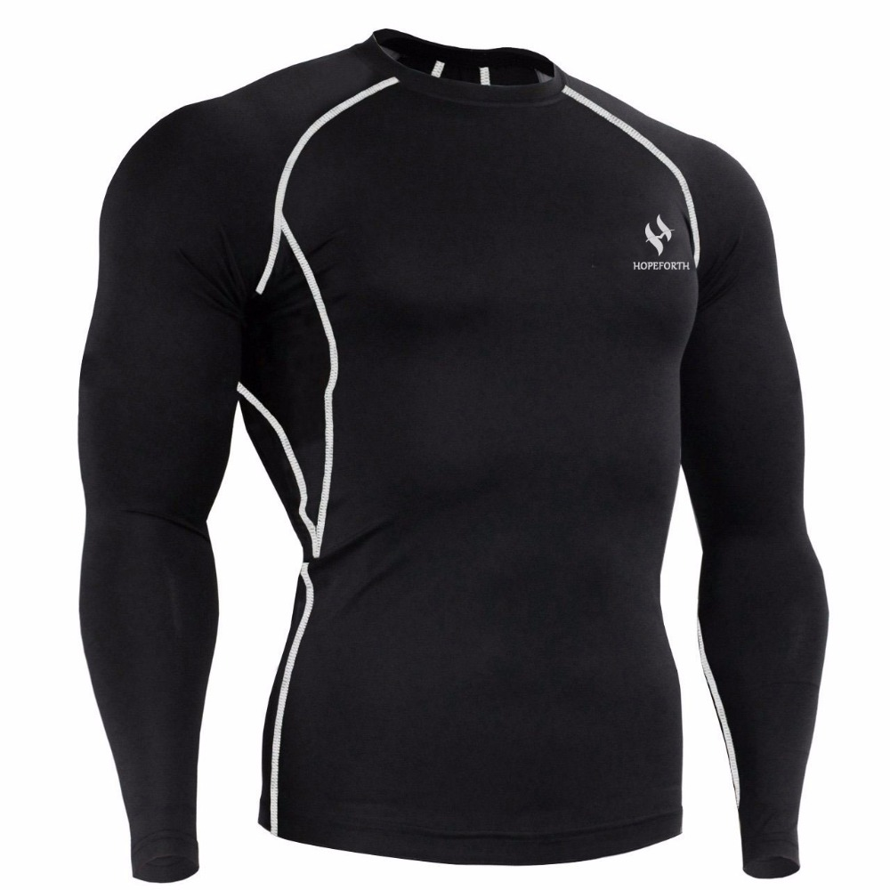 Hopeforth mens compression shirts bodybuilding weight for Compression tee shirts for men