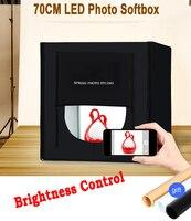 70*70センチポータブルledフォトスタジオソフトボックスライトテント+背景+ acアダプタ用電話カメラデジタル