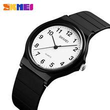 Skmei Роскошные Брендовые женские кварцевые часы простые наручные