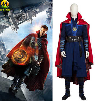 Doctor Strange Cosplay Costume Stephen Steve Vincent Cosplay Costume Doctor Strange Full Set Cloak Necklace Custom Made - DISCOUNT ITEM  21% OFF All Category