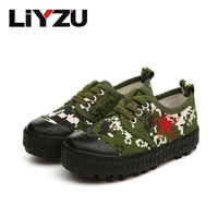 Legergroen kinderen canvas shoes jongen meisje camouflage sneakers mode retro leisure rode leger shoes comfortabel ademend