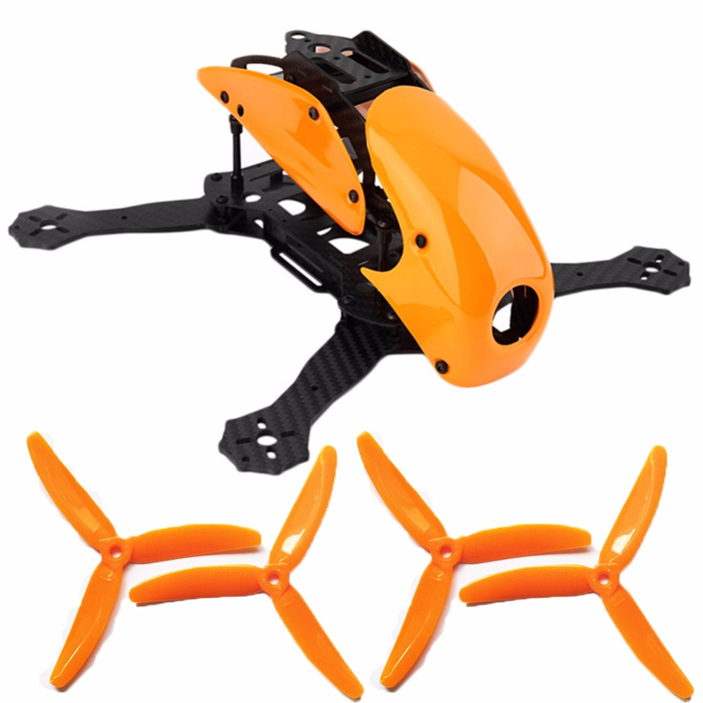 1PCS Robocat 270 RC 4-Axis Full Carbon Fiber Racing Mini Quad Quadcopter Frame with Hood Cover 2 Pairs 5040 Propeller for drone diy fpv mini drone qav210 zmr210 race quadcopter full carbon frame kit naze32 emax 2204ii kv2300 motor bl12a esc run with 4s