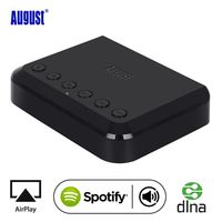 August WR320 WIFI Wireless Audio Receiver Multiroom Multiroom Music Adapter for Wired HiFi Speakers System Airplay Spotify DLNA
