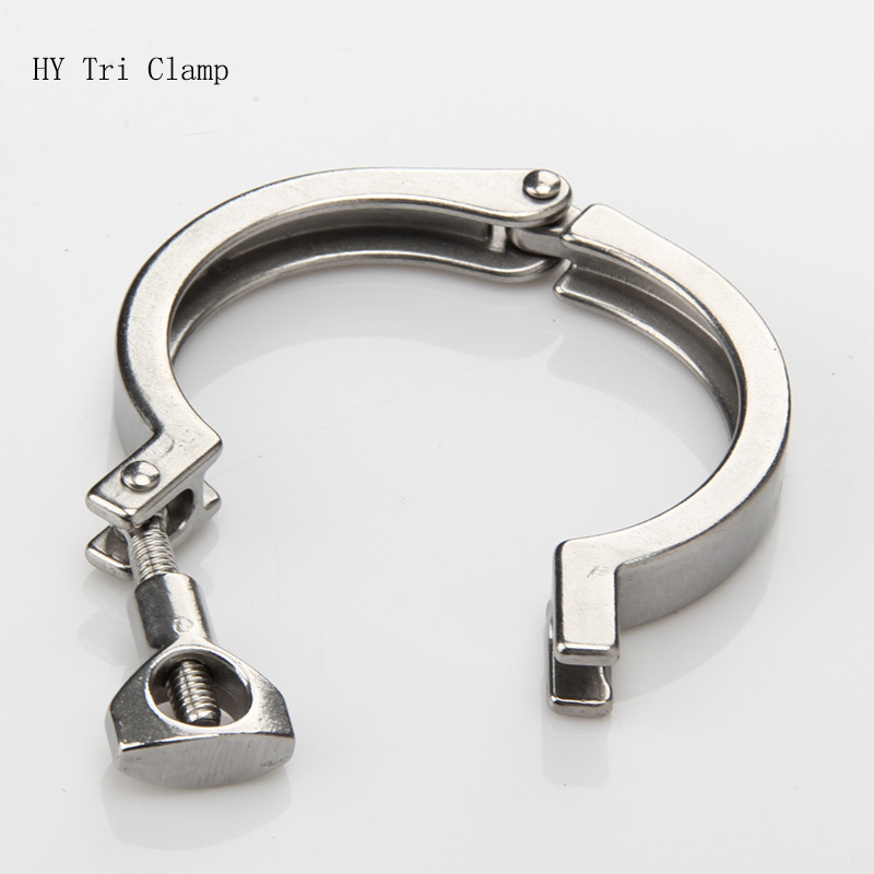 Tri Clamp Cover 304 Stainless Steel Sanitary Quick Release Pipe Clamps Clip  Heavy Duty 1/2