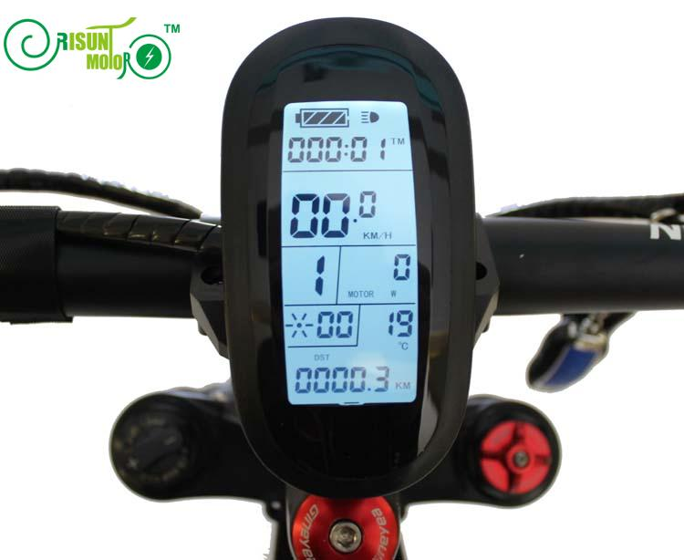 RisunMotor 24V 36V 48V ebike Intelligent LCD6 Control Panel Cycling Display For Electric Bicycle Conversion Parts Accessories js lcd display for electric bicycle waterproof original connector manual control panel mount on the bike handlebar 36v cycling