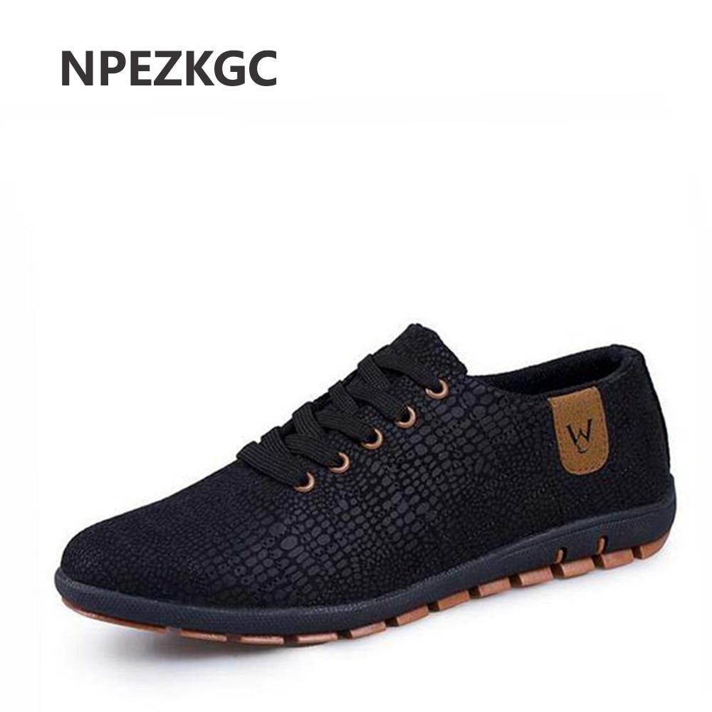 NPEZKGC Spring Summer Canvas Men Shoes Breathable Male Casual Fashion Light Low Lace Up Shoes Flats Plus Size 45,46,47