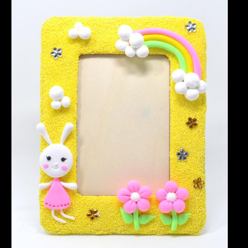 DIY Children's Handmade Photo Frame Clay Photo Frame Material Package Non-toxic Parent-child Toy Color Mud Suit